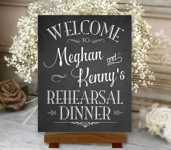 Rehearsal Dinner Sign Welcome Chalkboard by PrintablePixels