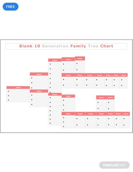 Free Blank 10 Generation Family Tree Did You Know Pinterest