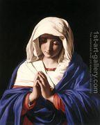 The Virgin in Prayer 1640-50  by Francesco de' Rossi (see Sassoferrato)