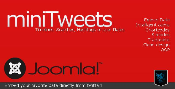 miniTweets for Joomla - Embed Twitter Data