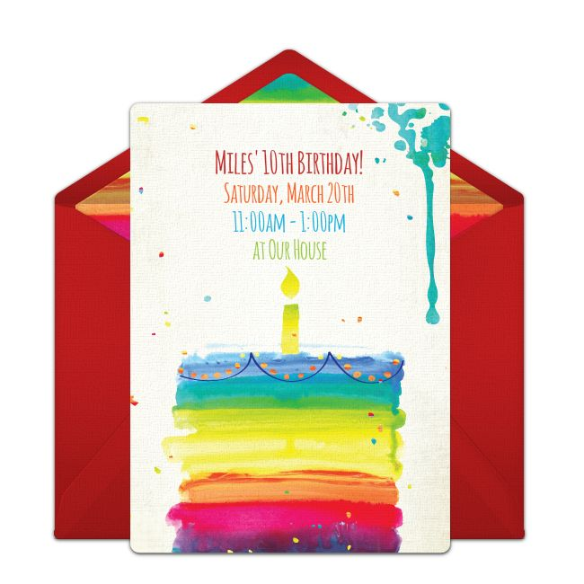 11 best birthday invitations images on Pinterest Online - best of birthday invitation card online maker
