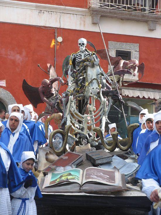 Easter procession on the Italian island of Procida, near Napoli.