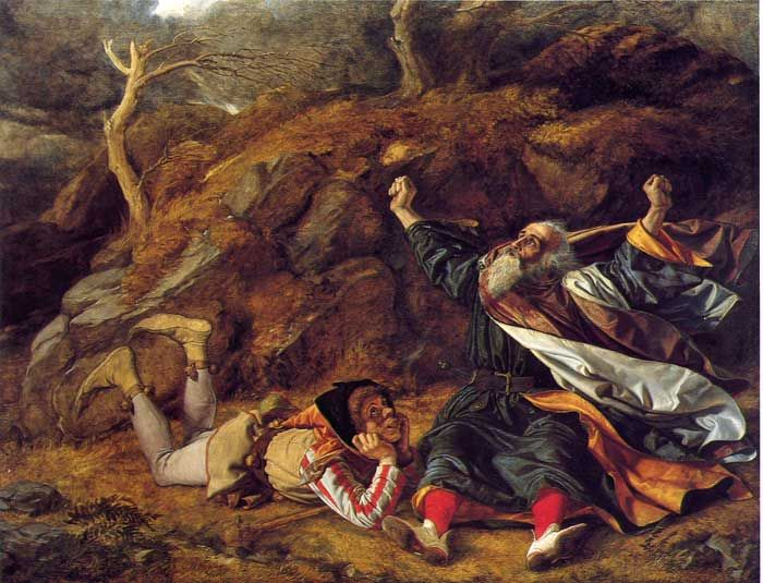 William Dyce, King Lear and the Fool in the Storm (c. 1851)