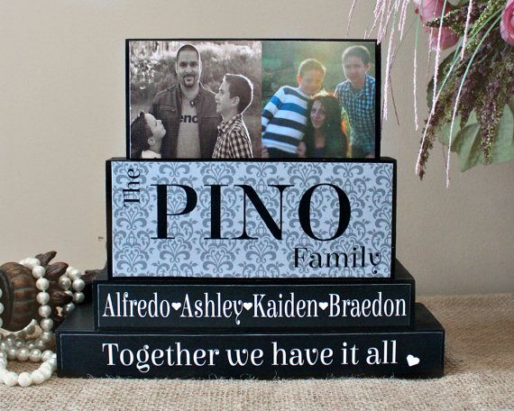 Gifts for Family - Wooden Blocks - Last Name Blocks - Mantle Centerpiece - Block Home Decor - Wooden Word Blocks - Family Name Blocks