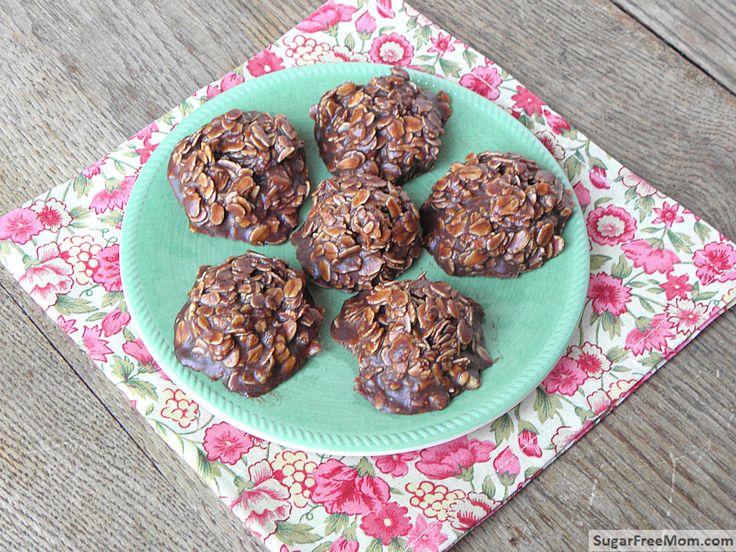 No bake chocolate oatmeal cookies - gluten freeAlmond Milk, No Bake ...