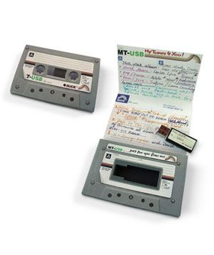 Mix tape USB flash drive... perfect for an 80's baby! like me! old skewl with a modern day twist...