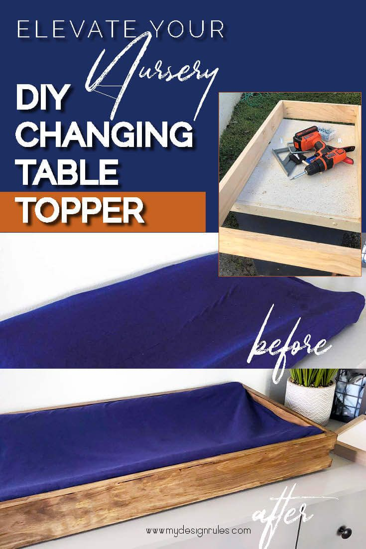The Cutest Diy Changing Table Topper Diy Baby Furniture Diy Changing Table Changing Table Topper