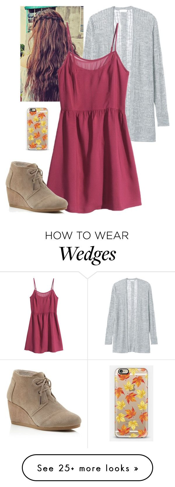 """""""Infinity ∞"""" by kayleemullins on Polyvore featuring Rebecca Taylor, H&M, TOMS and Casetify"""