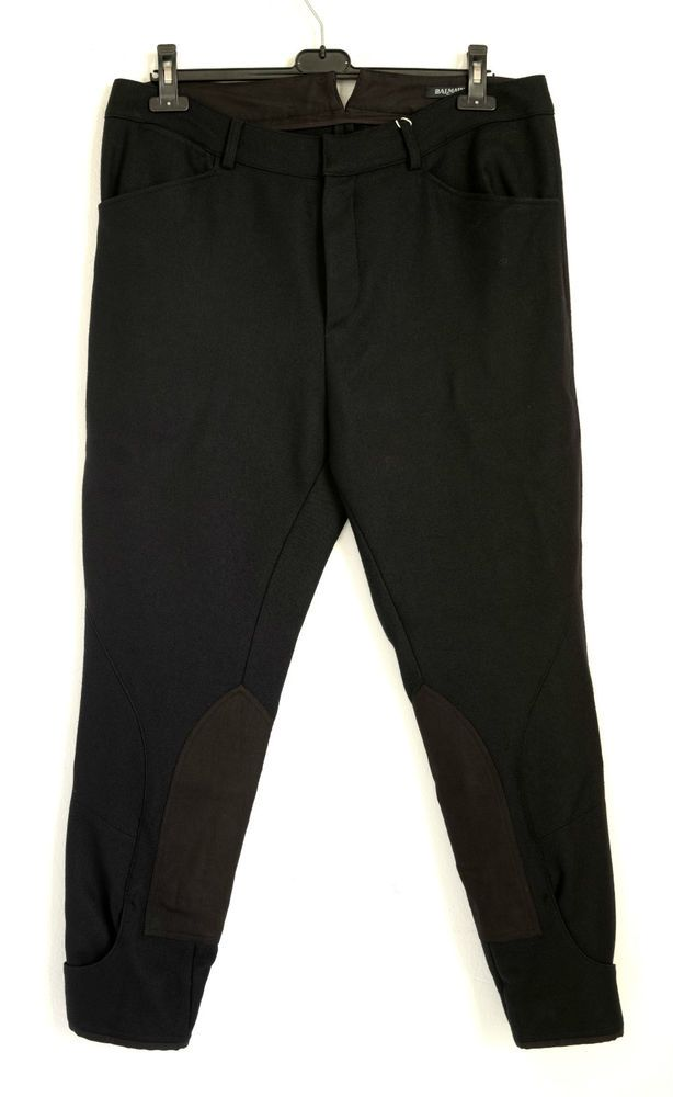 BNWT BALMAIN WOOL CROPPED BLACK TROUSERS MADE IN FRANCE AW 2014 50IT,1115$ #BALMAIN #CROPPED