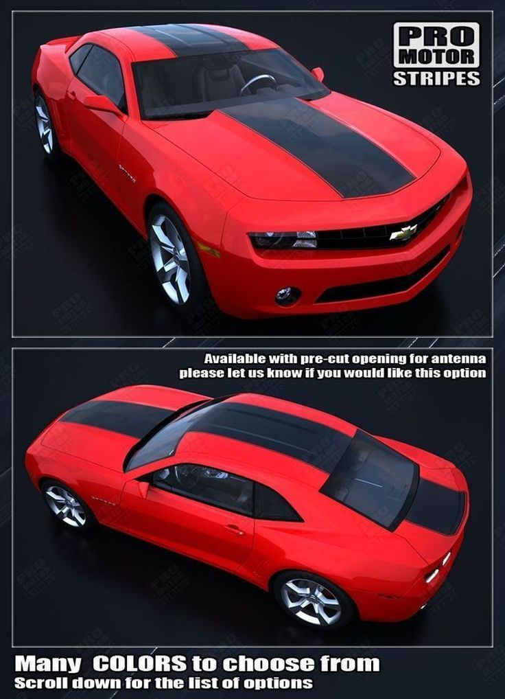 Chevrolet Camaro 2010-2015 Over-The-Top Solid Style Racing Stripes