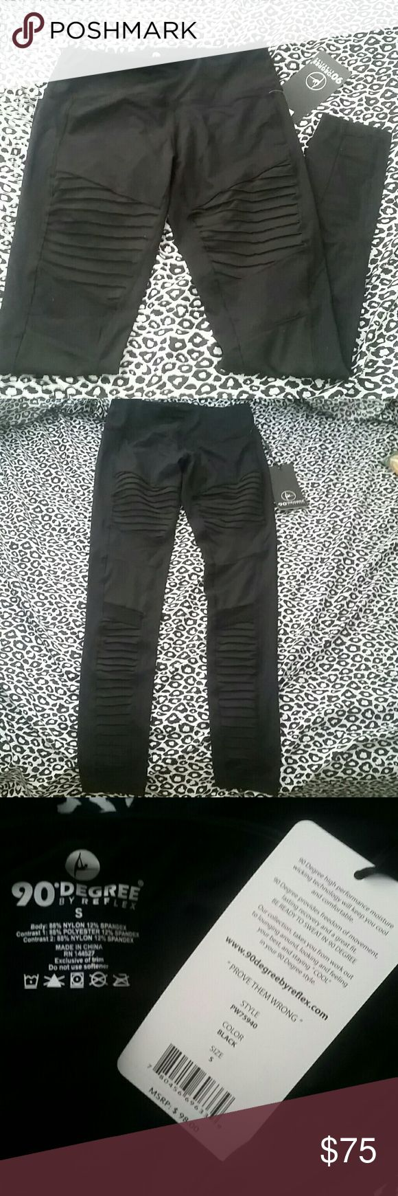Reflex leggings Sale tonight only!!  NWT. Retails for $98. Cute design. Great for going out or for the gym--either way you'll be lookin' good!!  FYI: Buy one and get one 50% off of equal or lesser value! Shop before sale ends and it's too late!! When will sale end??? Haven't decided lol... so help my treasures find a new home! Please help me help you SAAVVVEEEEE!!!! Pants Leggings