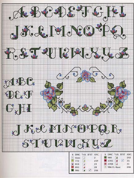 Floral Alphabets LA Cross Stitch - j_moz.lab - Álbumes web de Picasa