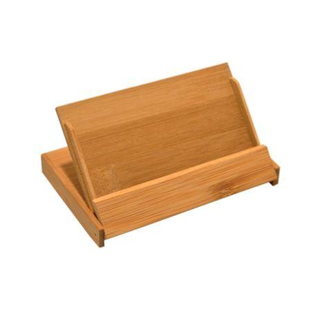 Klein doosje van #bamboe voor het bewaren van bijvoorbeeld #visitekaartjes. Deze houder is geschikt voor ongeveer 20 visitekaartjes.