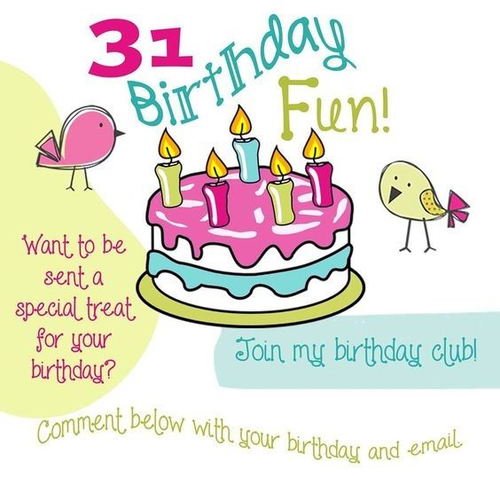 I'm starting a Thirty-One Birthday Club!  Interested?  Tell me your birthday!