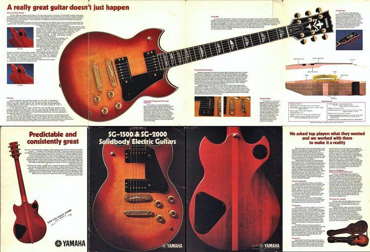 Yamaha shop SG advertisement in 70's