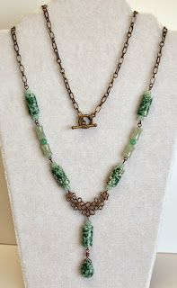 Custom Necklace Design - Eclectic Design Choices - Designs for Your Life: Design This - A Green Necklace