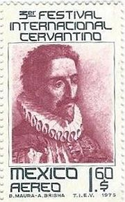 stamp with miguel de cervantes saavedra - Google Search