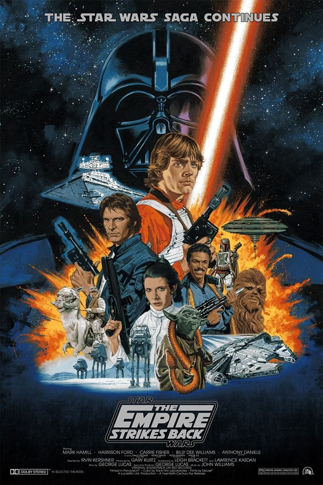 The Empire Strikes Back By Paul Mann Star Wars Movies Posters Star Wars Poster Star Wars Art