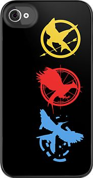 The Hunger Games, Catching Fire & Mockingjay logos all in one - iPhone case
