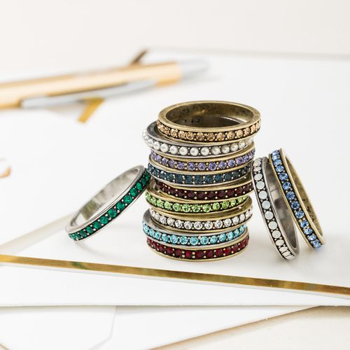 Chloe And Isabel Opal Pave Stacking Ring