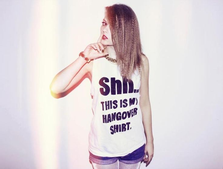 Shh... this is my #hangover t-shirt from KIPEKE by DaWanda.com