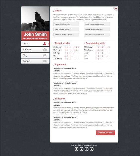 17 best images about more of the best resume cv vcard