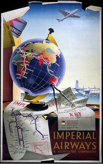 Vintage Imperial Airways & Associated Companies Poster http://blog.stuttgarter-zeitung.de/wp-content/vintage-aviation-posters-6a.jpg