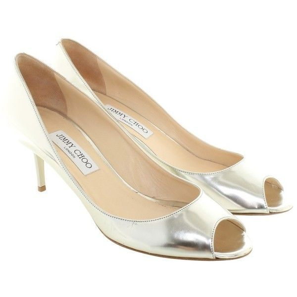 9461ada7e124 Pre-owned pumps in silver colors ( 175) ❤ liked on Polyvore featuring shoes