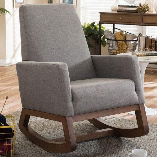 Found It At AllModern   Baxton Studio Rocking Chair · Living Room FurnitureNursery  FurnitureUpholstered ... Part 72