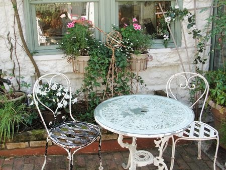 shabby chic patio Garden Benches and Beauty Pinterest