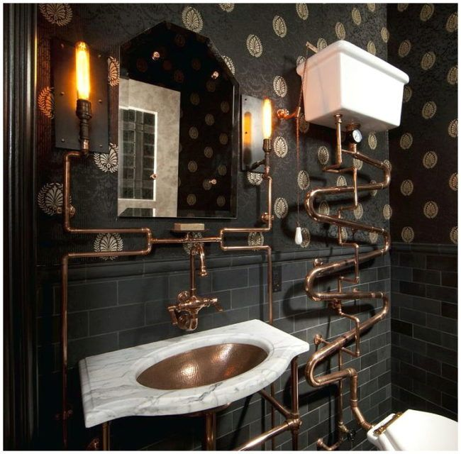 Who cares about the gothic bathroom decor and why should you be careful?