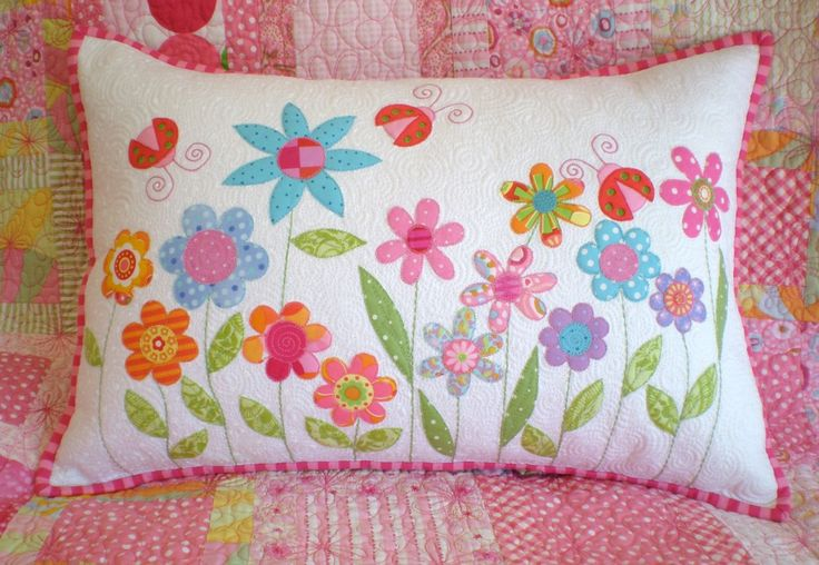 Beautiful pillow for little girl's room.  Embroidery would take a full day or two though!