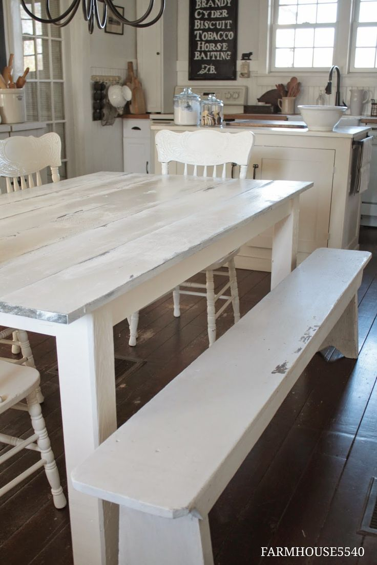 17 best ideas about farmhouse kitchen tables on pinterest | dining