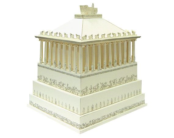 Mausoleum at Halicarnassus Paper Model KIT by PaperLandmarks, $20.00