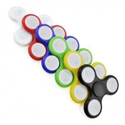 Image of Promotional LED Flashing Fidget Spinner. Light Up Fidget Spinner
