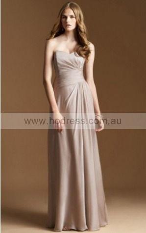 Chiffon Sweetheart Empire A-line Floor-length Bridesmaid Dresses 0740127--Hodress