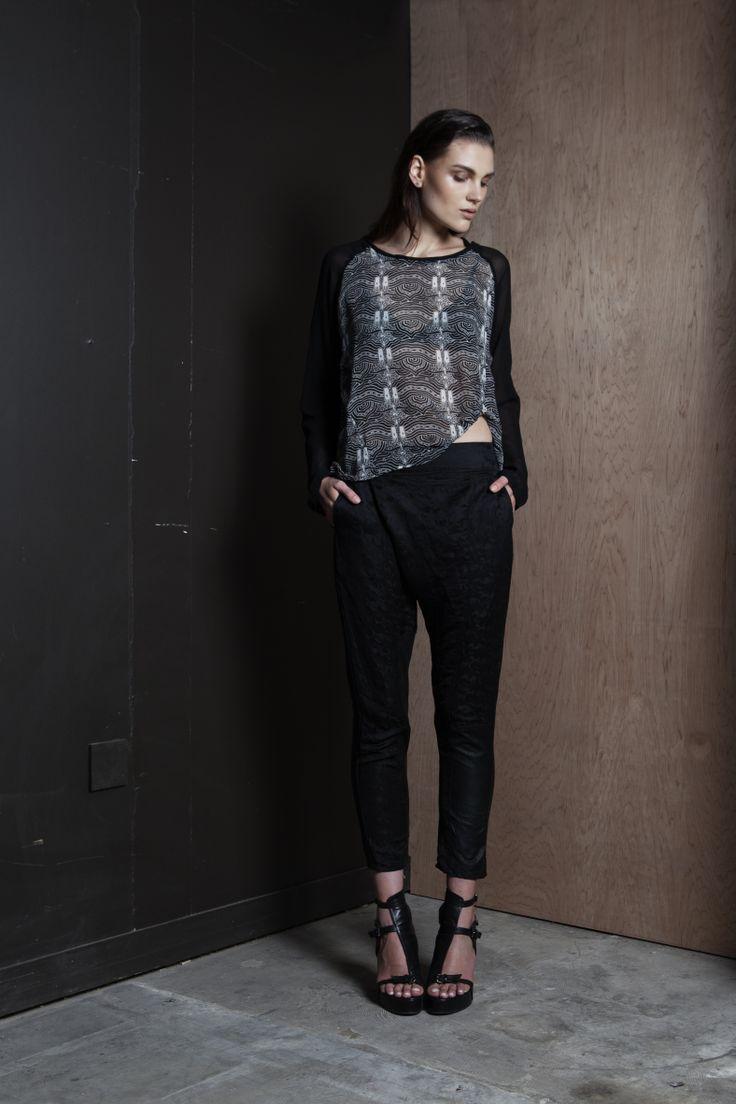 Silent Sweatshirt | She's in Party Pants  #print #graphic #handsprint #pants #summer #companyofstrangers