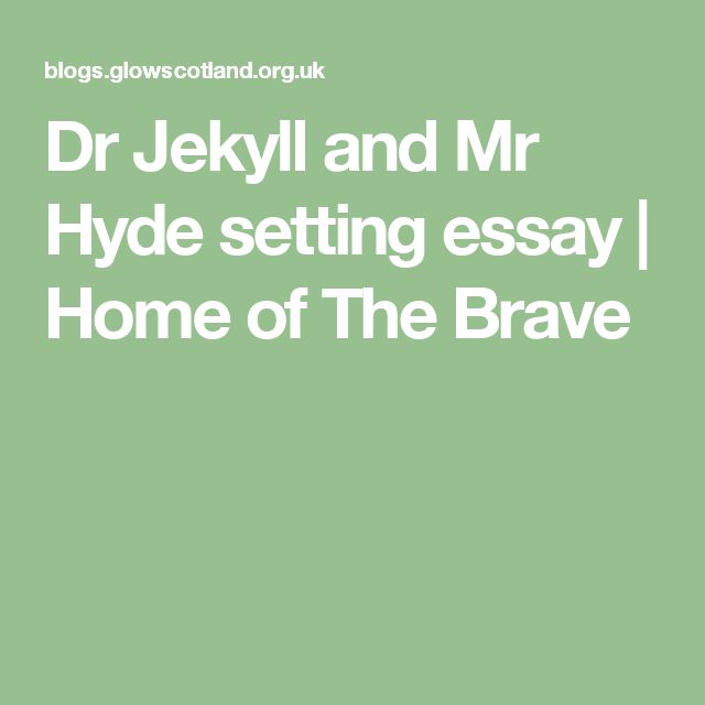 jekyll and hyde a comparision essay Jekyll and hyde essay, research paper we will write a custom essay sample on any topic specificallyfor you for only $1390/page order now in the 1880 s, robert louis stevenson created the forever popular novel the strange case of dr jekyll and mr hyde the narrative international relations and security network t merely.