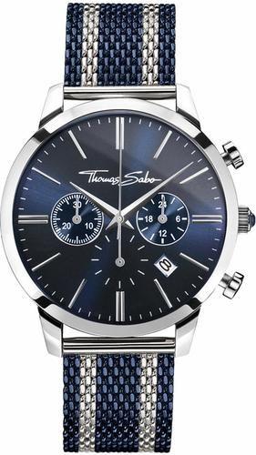 #Thomas Sabo Herren Chronograph ´REBEL SPIRIT CHRONO, WA0285-281-209´, Gr. One Size, blau, 04051245284959