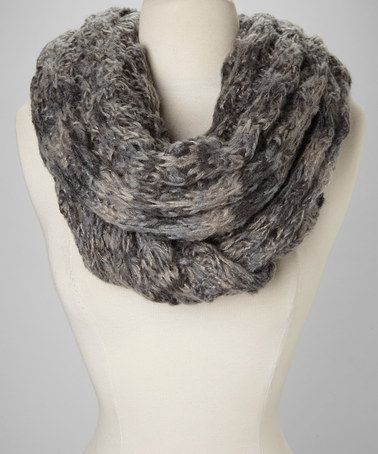 Take a look at this Gray Knit Scarf by Raj Imports on #zulily today!