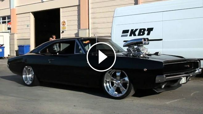 Brutal Sound & Good Looking 68 Dodge Charger - That thing looks mean. This beauty video is filmed at Sema show 2011... In 2009, Johan Eriksson won Sweden's best-