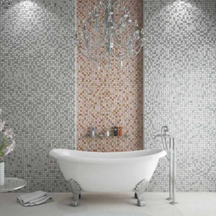 14 best Grey mosaic tiles images on Pinterest | Grey mosaic tiles ...