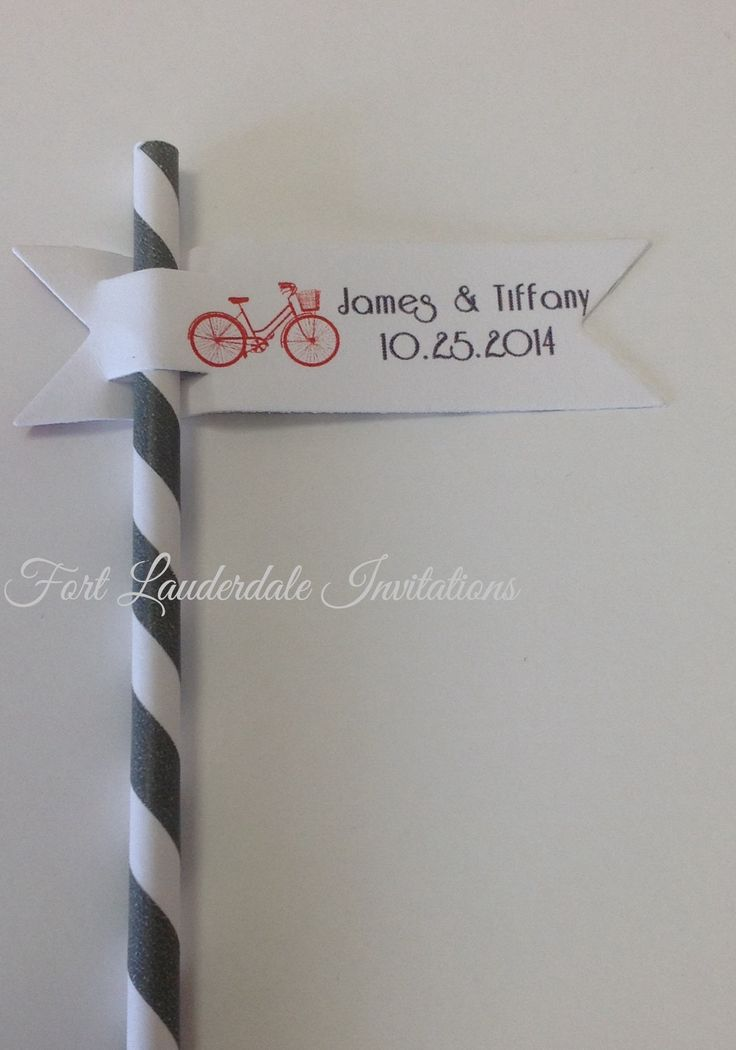 Invitations using paper straws