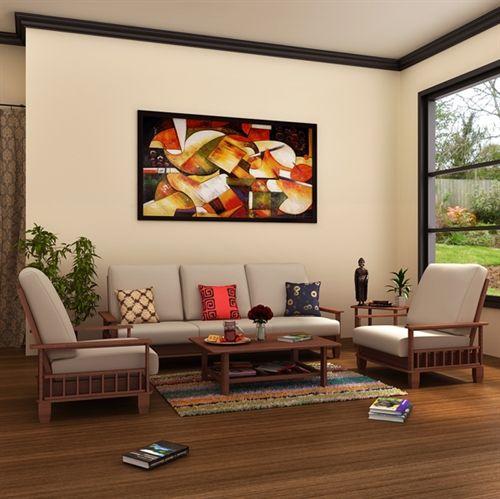 MANHATTAN WOODEN SOFA SET 3+1+1 ANT OAK #wooden #sofa #