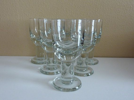 Vintage Scandinavian Design Glassware - Modern Kitchen - Set of 6 Beer Glasses - 1970s, 1980s