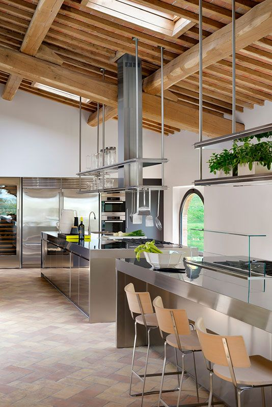 Cucina ARCLINEA modello Convivium acciaio inox. La cucina professionale a casa tua ...