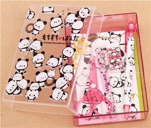 Mochi Panda school stationery set gift set with 8 pieces