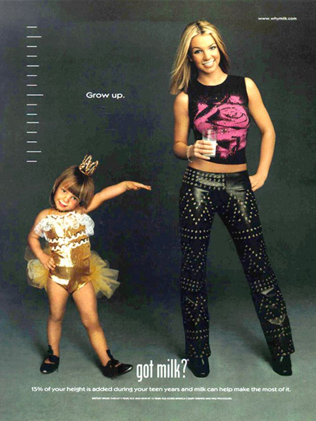 Got Milk?, milk, ads, advertisements, 1990s, 90s, Britney Spears