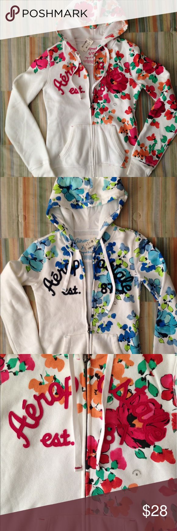 Aeropostale Floral Hoodies Gorgeous but too small for me! New with tags Aeropostale Jackets & Coats