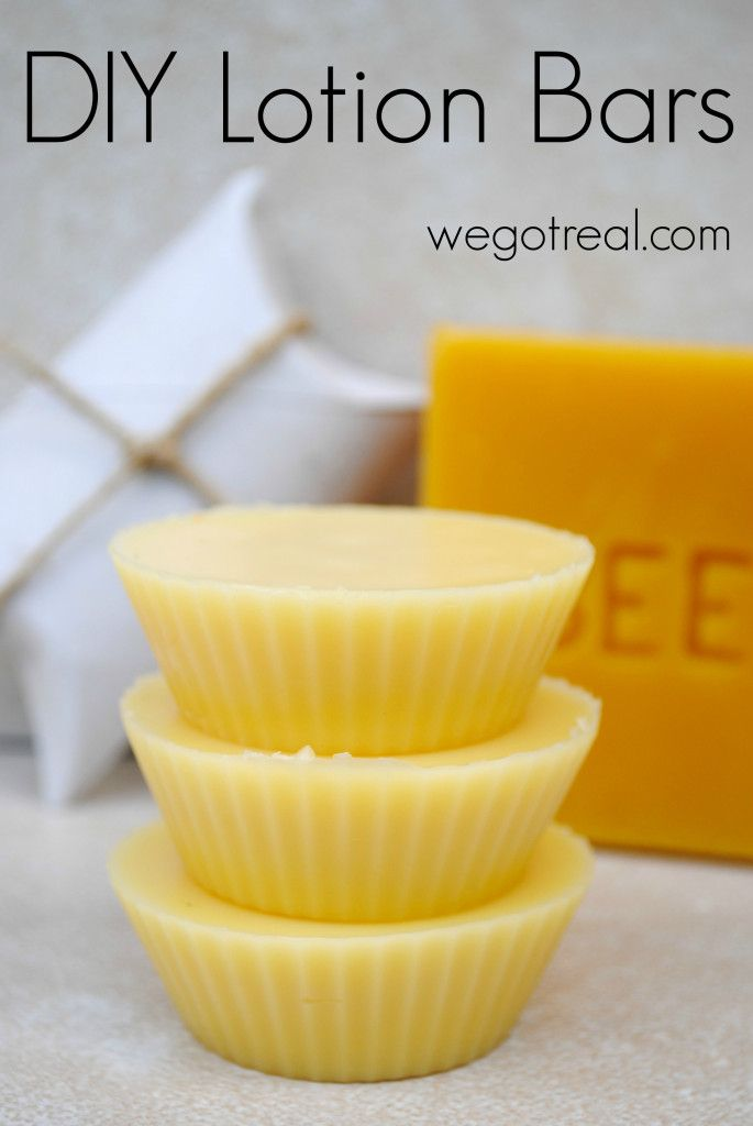 DIY Lotion Bars. Perfect as a gift and a few for myself!